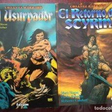 Cómics: NOVELAS GRAFICAS CONAN EL BARBARO: EL URSURPADOR Y EL RETORNO DE SCYRM (FORUM 1998). Lote 110797359