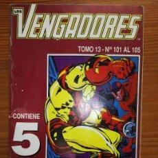 Cómics: LOS VENGADORES DEL 101 AL 105 TOMO 13. Lote 111050499