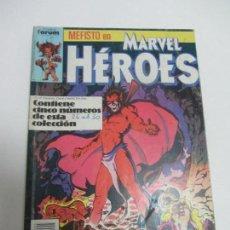 Comics - MARVEL HÉROES VOL. 1 - RETAPADO - 5 NÚMEROS (26-27-28-29-30) - FÓRUM - PLANETA 1989 C90SADUR - 111110111