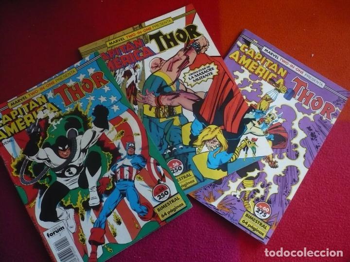 CAPITAN AMERICA THOR VOL. 1 NºS 54, 56 Y 60 ( SIMONSON ) ¡BUEN ESTADO! FORUM MARVEL TWO IN ONE (Tebeos y Comics - Forum - Capitán América)