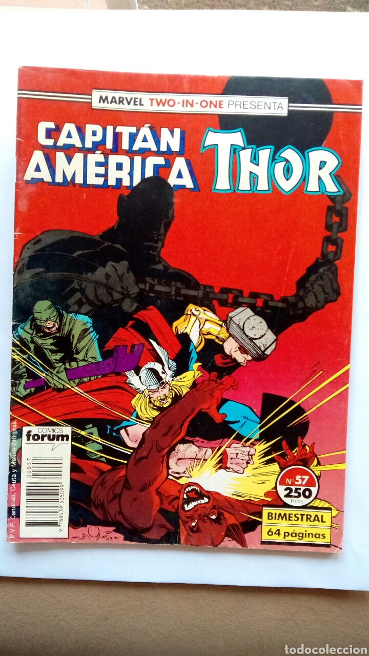 MARVEL CAPITÁN AMÉRICA, THOR. N°57. CÓMICS FORUM. (Tebeos y Comics - Forum - Capitán América)