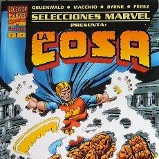 Cómics: SELECCIONES MARVEL - LA COSA - EL CASO DE LA CORONA DE LA SERPIENTE Y PROYECTO PEGASO. Lote 48907860