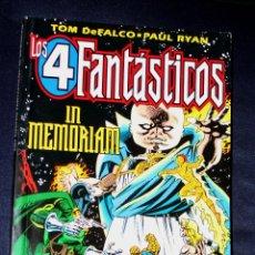 Cómics: LOS 4 FANTÁSTICOS: IN MEMORIAM ( TOM DE FALCO & PAUL RYAN) . Lote 112876003