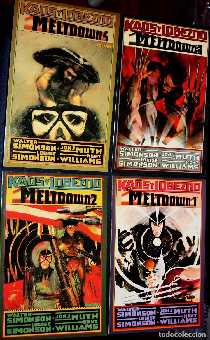 KAOS & LOBEZNO :MELTDOWN DE WALTER SIMONSON ( COLECCION COMPLETA EN CUATRO PRESTIGIOS)- IMPECABLES- (Tebeos y Comics - Forum - Prestiges y Tomos)