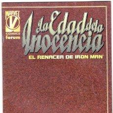 Cómics: LA EDAD DE LA INOCENCIA - EL RENACER DE IRON MAM - ,AÑO 1998 - FORUM. Lote 113450207