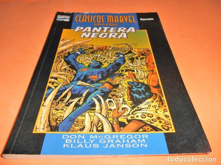 PANTERA NEGRA, 1: LA FURIA DE LA PANTERA / CLÁSICOS MARVEL BLANCO Y NEGRO, 7 – FORUM. (Tebeos y Comics - Forum - Otros Forum)