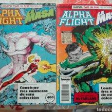 Comics - Lote dos retapados Alpha flight / La Masa- forum, 6 números - 114530919
