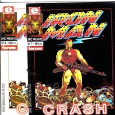Cómics: IRON MAN CRASH 1-2 -LA PRIMERA NOVELA GRAFICA CREADA POR ORDENADOR. Lote 114749743