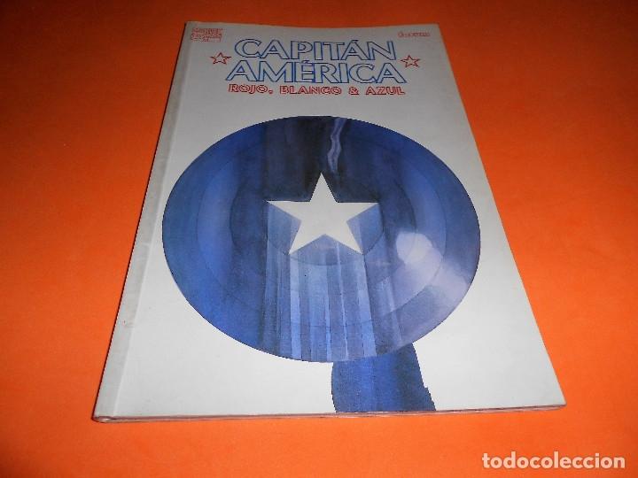 Cómics: Capitán América: Rojo, blanco y azul. Varios autores. Buen estado. - Foto 2 - 85730024