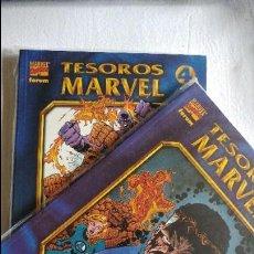 Cómics: TESOROS MARVEL LOS 4 FANTASTICOS COMPLETA 2 TOMOS COMICS FORUM EL ESTADO ES IMPECABLE . Lote 115292767