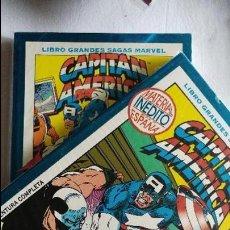 Cómics: CAPITAN AMERICA GRANDES SAGAS COMPLETA 2 TOMOS COMICS FORUM EL ESTADO ES IMPECABLE. Lote 115293411
