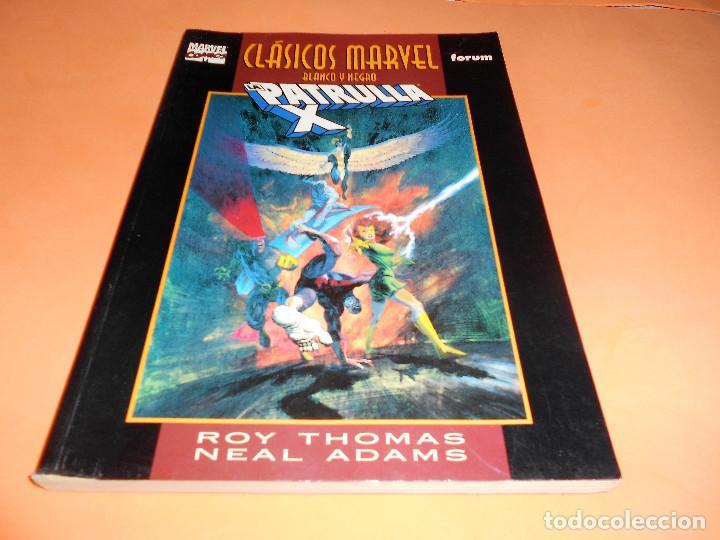 CLASICOS B/N: PATRULLA-X: VISIONARIOS, DE ROY THOMAS Y NEAL ADAMS (MARVEL-FORUM) BUEN ESTADO (Tebeos y Comics - Forum - Patrulla X)