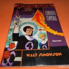 Cómics: ARCHIVOS MARVEL LOS 4 FANTÁSTICOS: CORRIENTE TEMPORAL. WALT SIMONSON. Lote 115498179