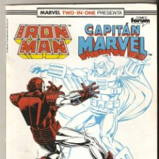 Cómics: MARVEL TWO IN ONE - IRON MAN / CAPITAN MARVEL Nº 55 1991 - EDITORIAL FORUM. Lote 115524871