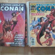 Cómics: LOTE 16 COMICS LA ESPADA SALVAJE DE CONAN. FORUM 1ª EDICIÓN. Lote 116094834