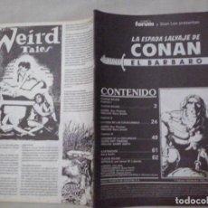 Cómics: TEBEOS Y COMICS: LOTE LA ESPADA SALVAJE DE CONAN EL BARBARO Nº 8, 13, 102, 103, 104, 111 (ABLN). Lote 116100535