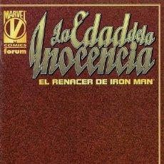 Cómics: LA EDAD DE LA INOCENCIA: EL RENACER DE IRON MAN . Lote 116582155