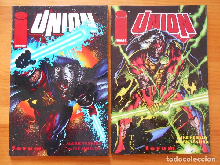 UNION - COMPLETA - UNION 1 Y 2 - MARK TEXEIRA, MIKE HEISLER - IMAGE - FORUM (8L) (Tebeos y Comics - Forum - Prestiges y Tomos)