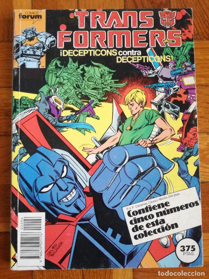 TRANSFORMERS 1 TOMO QUE CONTIENE CINCO NUMEROS: 41-42-43-44-45- COMICS FORUM 1989 (Tebeos y Comics - Forum - Retapados)