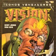 Cómics: LA VISIÓN ICONOS VENGADORES MARVEL COMICS FORUM. Lote 117361323