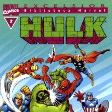 Cómics: BIBLIOTECA MARVEL HULK 7 NUEVO CON SPIDERMAN Y VENGADORES. Lote 117401051