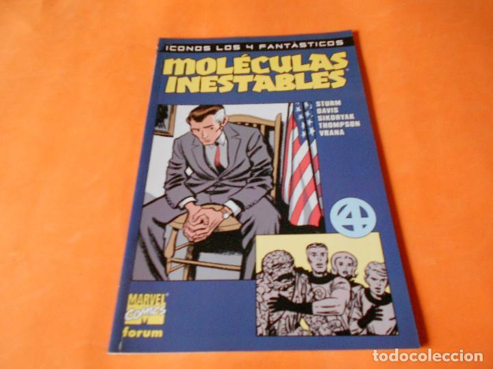 MOLECULAS INESTABLES, ICONOS LOS 4 FANTASTICOS. BUEN ESTADO. RUSTICA (Tebeos y Comics - Forum - 4 Fantásticos)