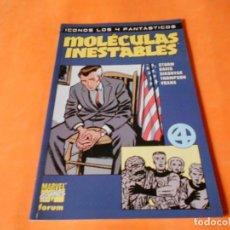 Cómics: MOLECULAS INESTABLES, ICONOS LOS 4 FANTASTICOS. BUEN ESTADO. RUSTICA. Lote 117560479