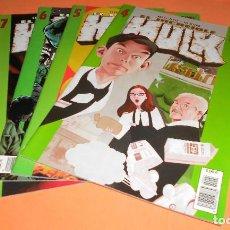 Cómics: EL INCREIBLE HULK. BRUCE JONES. Nº 4,5,6 Y 7. GRAPA. MUY BUEN ESTADO. Lote 117671603