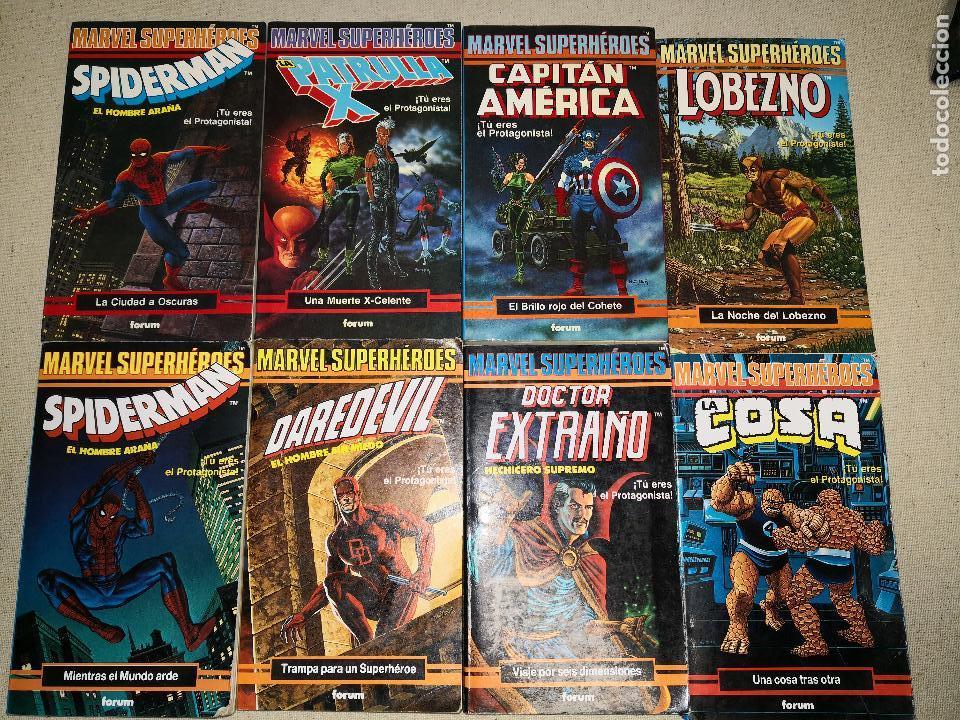 COLECCIÓN MARVEL 8 NUMEROS MARVEL ELIGE TU PROPIA AVENTURA, LIBROJUEGO, SPIDERMAN, DAREDEVIL, LOBEZN (Tebeos y Comics - Forum - Otros Forum)