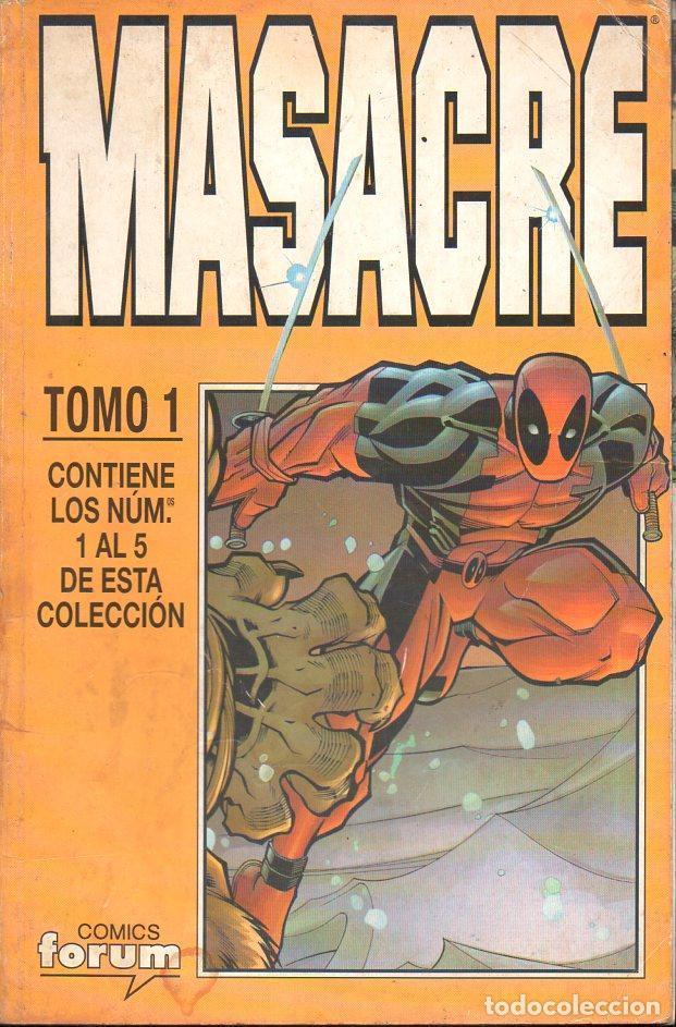 MASACRE FORUM TOMO 1 - NÚMS. 1 A 5 (Tebeos y Comics - Forum - Otros Forum)