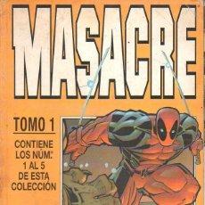 Cómics: MASACRE FORUM TOMO 1 - NÚMS. 1 A 5. Lote 117787123