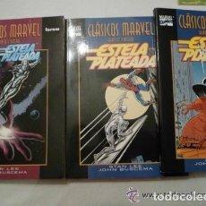 Cómics: CLÁSICOS MARVEL EN BLANCO Y NEGRO- ESTELA PLATEADA COMPLETA. 3 TOMOS FORUM.. Lote 128084622