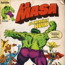 Cómics: LA MASA Nº 16 - EL INCREÍBLE HULK. Lote 117992983