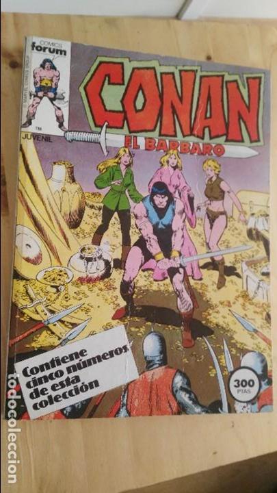 CONAN EL BARBARO -(CONTIENE CINCO NÚMEROS DE ESTA COLECCIÓN, DEL NÚMERO 51 AL 55 (AMBOS INCLUSIVE) (Tebeos y Comics - Forum - Conan)
