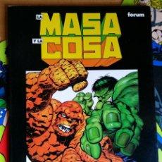 Cómics: LA MASA Y LA COSA. EL GRAN CAMBIO POR JIM STARLIN Y BERNI WRIGHTWSON. Lote 118343399