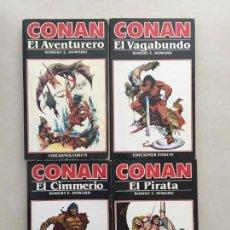 Cómics: CONAN LOTE DE 4 NOVELAS Nº2,3,4 Y 5, FORUM. Lote 118354687