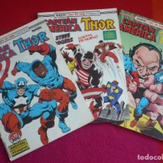 Cómics: CAPITAN AMERICA VOL. 1 NºS 72, 73 Y 74 ( GRUENWALD ) ¡BUEN ESTADO! FORUM MARVEL TWO IN ONE THOR. Lote 119072043
