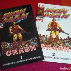 Cómics: IRON MAN CRASH 1 Y 2 ¡COMPLETA! ( MIKE SAENZ ) ¡MUY BUEN ESTADO! FORUM MARVEL EPIC 7 Y 8. Lote 119167659