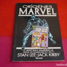 Cómics: ORIGENES MARVEL 9 CAPITAN AMERICA ( STAN LEE JACK KIRBY ) ¡MUY BUEN ESTADO! FORUM MARVEL. Lote 119256099