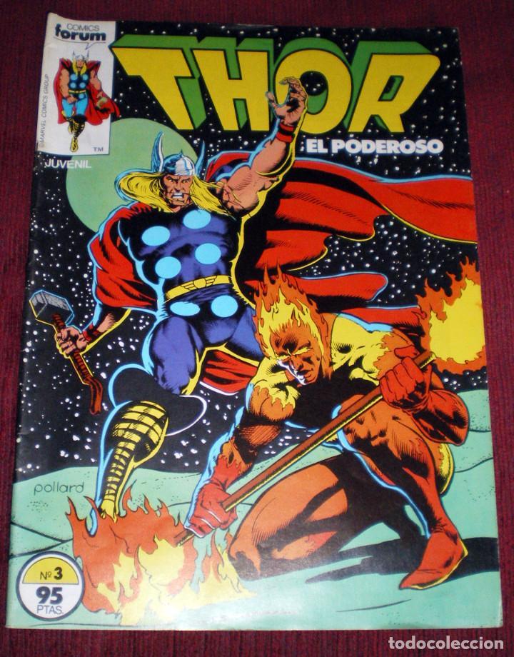 Cómics: 4 comics Forum Thor-todopoderoso v 1 nº 1-3-14-17 de Marvel Comics Group 1983 nuevos - Foto 3 - 119944895