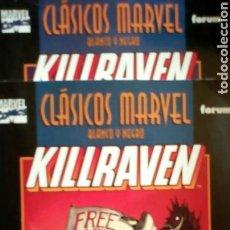 Cómics: CLÁSICOS MARVEL BLANCO Y NEGRO KILLRAVEN TOMOS 1 Y 2. Lote 120213672