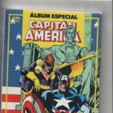Cómics: CAPITAN AMERICA-ALBUN ESPECIAL-RETAPADO DE 2Nº EXTRAS-FORUM-AÑO 1987-COLOR. Lote 120721791