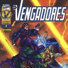 Cómics: HÉROES REBORN: LOS VENGADORES VOL.1 Nº 3 - FORUM IMPECABLE. Lote 121012451