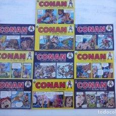 Cómics: CONAN TIRAS DIARIAS NºS - 2,3,4,5,6,7,8,9,10,11 - ROY THOMAS - ERNIE CHAN - A.ALCALÁ, R.NEBRES,. Lote 121186315