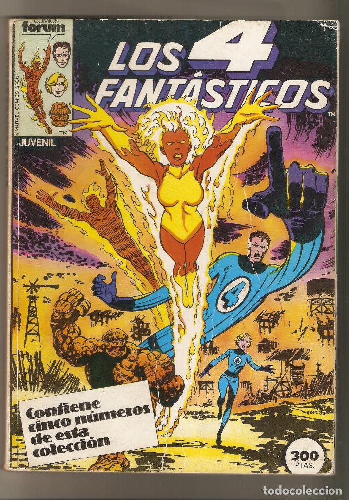 LOS 4 FANTASTICOS - 5 NÚMEROS 21 AL 25 - RETAPADO FORUM - NORMAL ESTADO - (Tebeos y Comics - Forum - Retapados)
