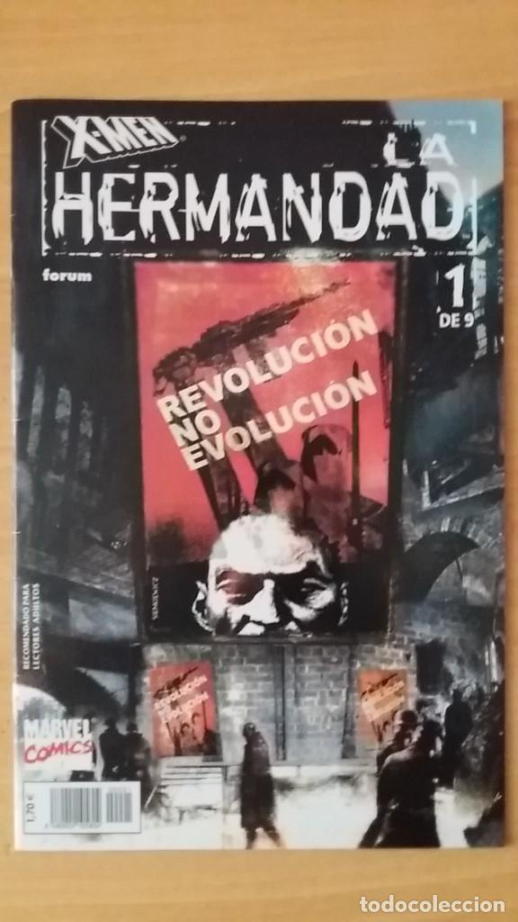 X-MEN LA HERMANDAD. FORUM. 2002. COMPLETA Y EN PERFECTO ESTADO. (Tebeos y Comics - Forum - X-Men)