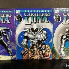 Cómics: ORIGINAL BIBLIOTECA MARVEL CABALLERO LUNA ESPECTACULAR CONSERVACION COMPLETA 3 NÚMEROS - FORUM. Lote 121746511