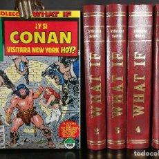 Cómics: COLECCIÓN COMPLETA WHAT IF MARVEL - FORUM 1 - 70 + 3 ESPECIALES EN 5 VOLUMENES DE LUJO. Lote 121853427