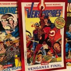 Cómics: LOS VENGADORES-GRANDES SAGAS MARVEL +JUEGO DE DIOSES-FORUM. Lote 121878482