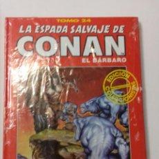 Cómics: LA ESPADA SALVAJE DE CONAN TOMO ROJO 24 EDICIÓN COLECCIONISTAS DE FORUM. Lote 121915379